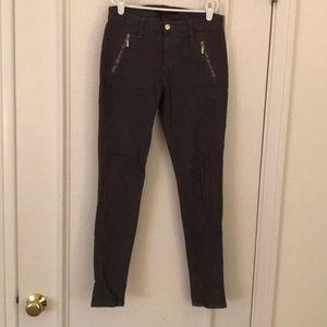 Joes Jeans Sueded Zipper Skinny Pants